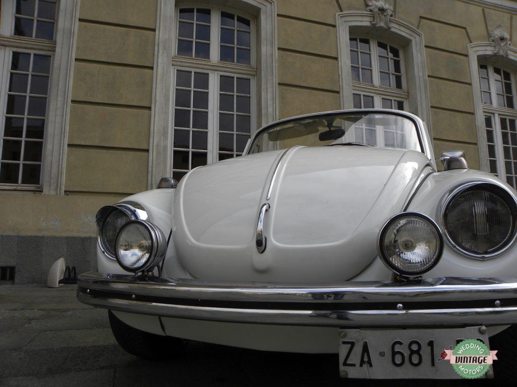 Maggiolone Bianco Cabrio interni Panna